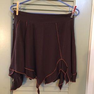 Maha Devi Designs Brown Miniskirt M